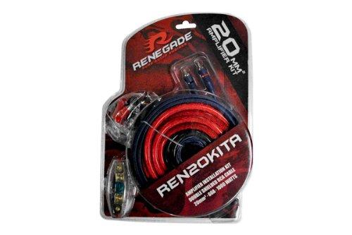 Renegade Ren20Kita 4 Gauge Amplifier Install Kit Anl Fuse