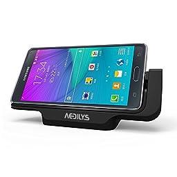 AEDILYS® Horizontal Desktop Charging Dock for Samsung Galaxy Note4 N9100(black)