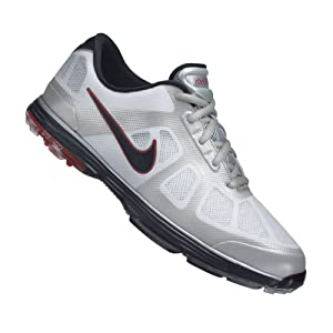 Nike Golf Men's Nike Lunar Ascend Golf Shoe,White/Black/Action Red/Granite,10.5 M US