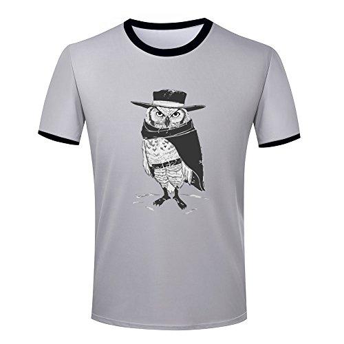 Owl warrior the hero mens ringer t shirt XXL