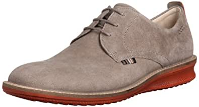 ECCO Men's Countored Plain Toe Tie Oxford,Warm Grey,44 EU/10-10.5 M US