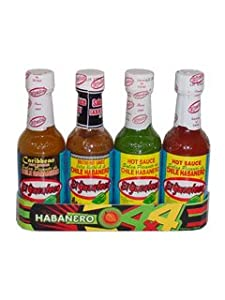 El Yucateco 4 Habanero Hot Sauces Gift Pack 4 Items from MexGrocer.com