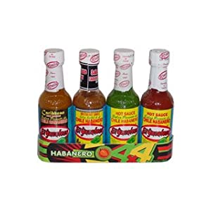 El Yucateco 4 Habanero Hot Sauces Gift Pack