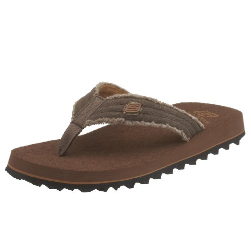 Skechers Men'S Fray Cotton Thong,Chocolate,10 M front-662342
