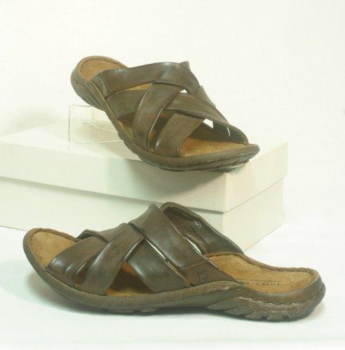 5809 Josef Seibel Mens leather mules brown