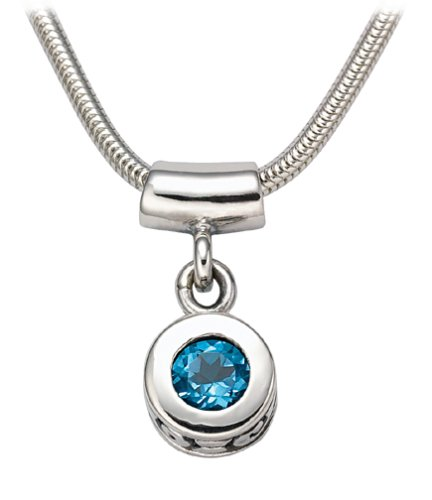 Sterling Silver Pendant Blue Topaz from The Swirl Collection
