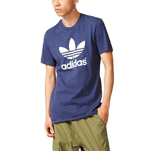 adidas Originals Men's Trefoil Logo T-Shirt Blue XXLarge