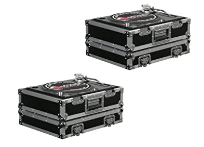 (2) Odyssey FR1200E ATA Flight Ready Pro DJ Equipment Turntable Transport Cases from Odyssey