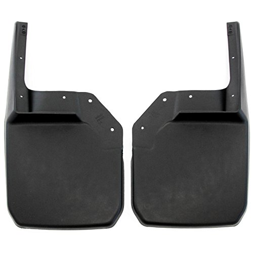 2007-2016 Jeep Wrangler JK JKU Mud Flaps Guards Splash Flares Front Molded 2pc (Mud Flap Jeep Wrangler compare prices)