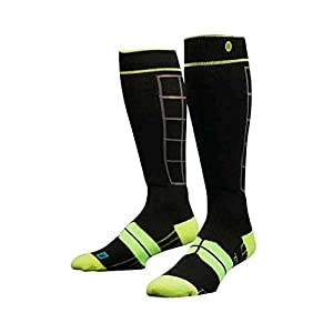 Stance Men's Baldface Crew Sock, Black, Small/Medium