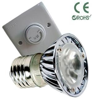 Glb E27 3 Watt Led Bulb With Dimmer, Pure Or Warm White