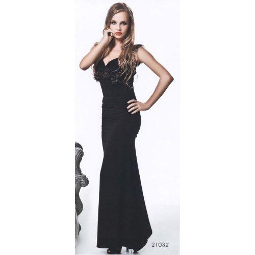 Hong Kong Ladies ロングドレス HKL-LGF21032 Black-O/S