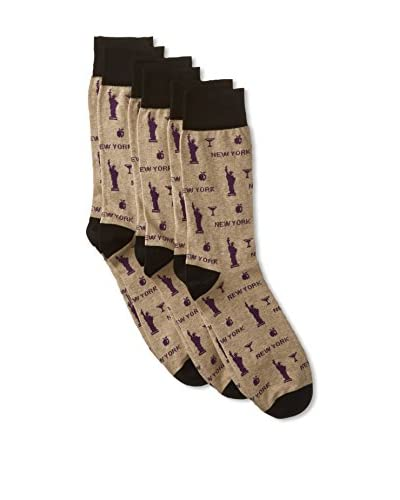 Corgi Men's Combed Socks 3-Pack, Multi, One Size As You See