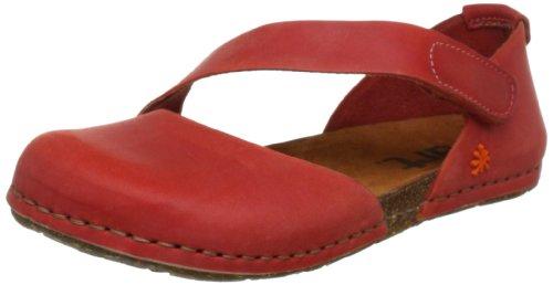 ART CRETA 0442 - Sandalias de cuero para mujer, color rojo, talla 39