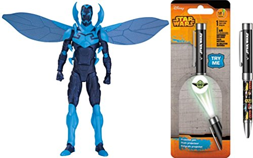 Super Hero Icons: Blue Beetle Infinite Crisis Action Figure & Free Star Wars Projector Pen, Colors may vary Toys