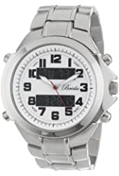 Breda Men's 7218-Silver Cooper Sporty Analog and Digital Watch