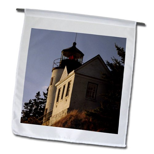 Fl_144579_1 Danita Delimont - Lighthouses - Bass Harbor Lighthouse, Mt Desert Island, Maine Usa - Us20 Mhe0014 - Michel Hersen - Flags - 12 X 18 Inch Garden Flag