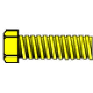 "0-80 1/8"" Hex Head Machine Screw (5) by Woodland Scenics"