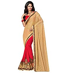 coolwomen women's georgette embroidered free size fancy saree-cw_cwRGNA352_multicolor_free size