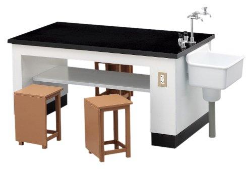 1/12 フィギュアアクセサリーシリーズ 理科室の机と椅子 プラモデル FA...