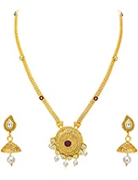 Sukkhi Finely Gold Plated AD Necklace Set For Women