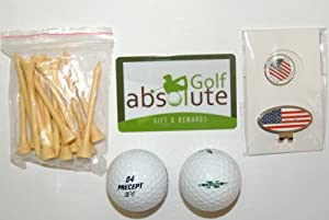 48 Precept Mixed Recycled Golf Balls Grade C With Free Tee