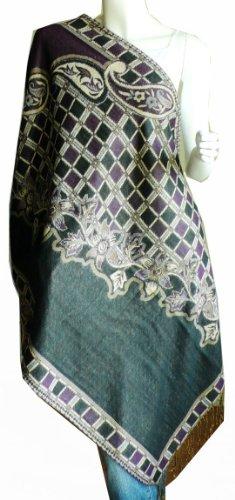 TripleLayer Jacquard Pashmina Shawl Wrap Scarf Stole-#BS