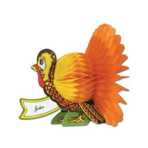 24 Thanksgiving Turkey Place Card Name Plates Dinner Table (Seating Place Cards compare prices)