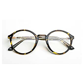 1920s Vintage Oliver Retro Eyeglasses 481 Tiger Skin Round Shape Peoples Eyewear