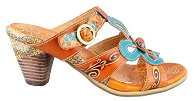 SPRING STEP Women's Queenie Sandal (Camel 35.0 M)