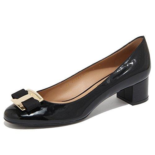6683N ballerina donna SALVATORE FERRAGAMO NINNA F40 vernice nera shoes woman [39-9]