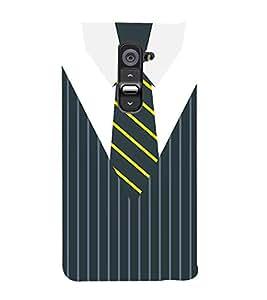 Stripes Executive Dress 3D Hard Polycarbonate Designer Back Case Cover for LG G2 :: LG G2 D800 D980