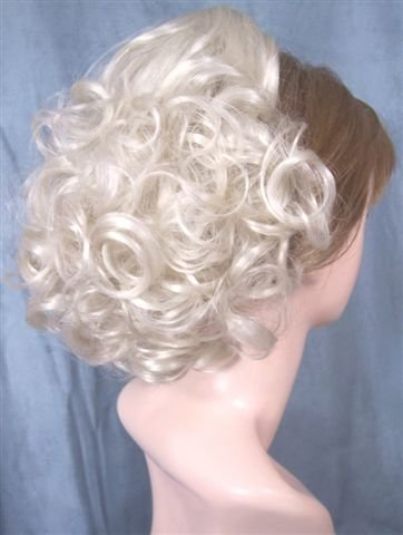 DAWN Clip On Hairpiece Wig Gray #60 SILVER WHITE by MONA LISA