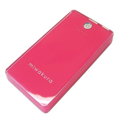 MIWAKURA/ミワクラ モバイルバッテリー POWER BANK SAKURA 「桜」 大容量5200mAh/iPhone5S・5C・4S/iPad Air/Xperia/Galaxy/Android/スマホ/携帯ゲーム機/Wi-Fiルータ/その他USB充電製品対応/6種類の充電コネクタセット/充電/充電器/コンパクト/ポータブル  MPB-5200 (ピンク)