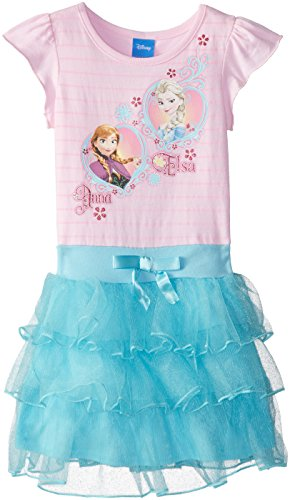 Disney Little Girls' FROZEN Anna and Elsa Tutu Dress