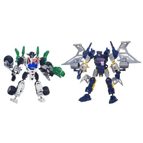 Transformers Construct-Bots Elite Class Wheeljack and Soundwave Buildable Action Figures by Hasbro