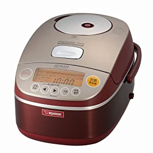 Zojirushi NP-BS10-RA IH 5-cup Pressure Rice Cooker and Warmer | AC100V 50/60Hz (Japan Model)
