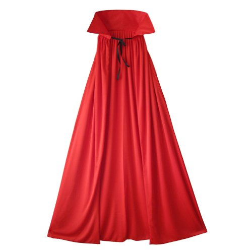 "54"" Fully Lined Deluxe Red Cape ~ Halloween Costume Accessories (STC11510-54)"