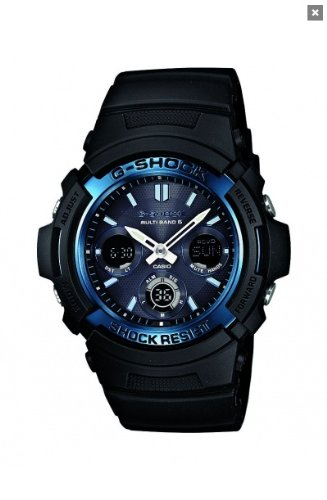 Casio G-Shock Men's Quartz Watch with Black Dial Analogue - Digital Display and Black Resin Strap AWG-M100A-1AER