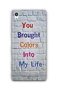 YuBingo You Brought Colours Into My Life Mobile Case Back Cover for Sony Xperia Z5 Premium