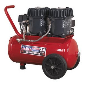Sealey SSQC2409 Super Quiet Compressor, 0.92 hp, 24 Liter