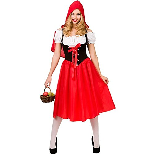 Little Red Riding Hood Retro Fairytale Costume. Sizes up to 28