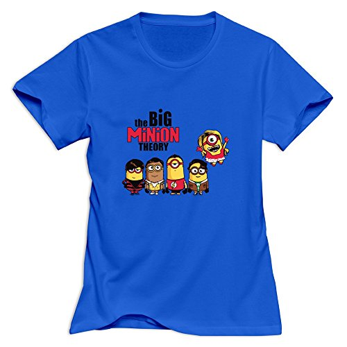 Yisw Women Big Minion Theory T-Shirt Slim Fit Swag T-Shirts