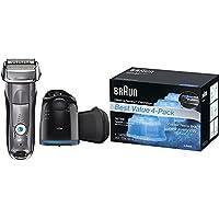 Braun Series 7 7865cc Wet & Dry Electric Shaver Kit + Braun Clean & Renew Refill Cartridges