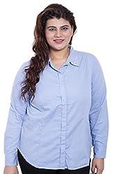 LISS519_2XL_Embellished Collar Full Sleeve Sky Blue Shirt