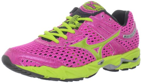 Mizuno Women'S Wave Precision 13 Running Shoe,Electric/Lime Punch/Dark Shadow,11 B Us