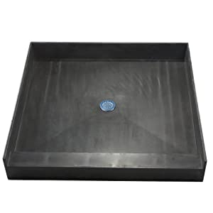 Tile Redi 3636c Pvc Single Curb Shower Pan With Integrated