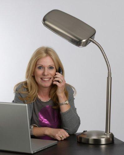 10,000 LUX Vollspektrum Tageslicht Schreibtischlampe – 70 Watt – nickel