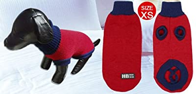 Pet Dog Chihuahua Sweater Apparel Turtleneck Knitted Coat Red XS