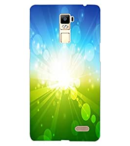 ColourCraft Beautiful Sun Rays Design Back Case Cover for OPPO R7